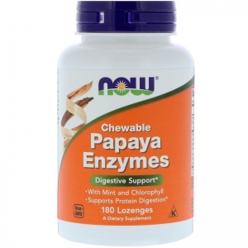 Пищеварительные ферменты папайи, Papaya Enzymes, Now Foods