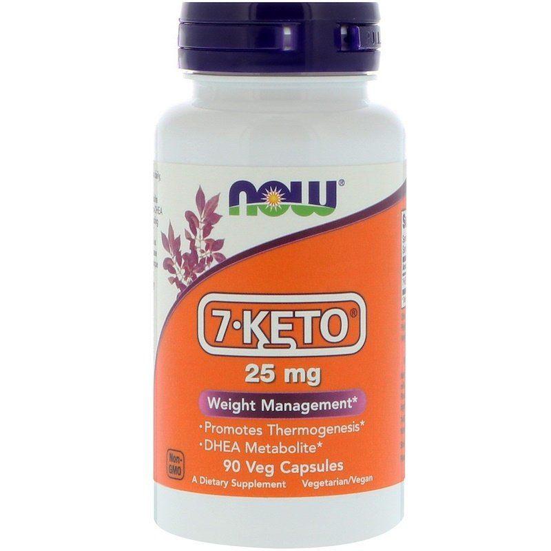 7 кето Дегидроэпиандростерон, 7-KETO, Now Foods, 25 мг, 90 капс.