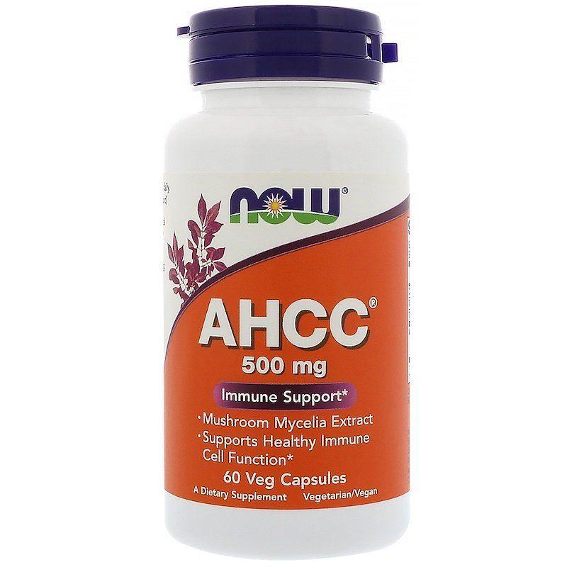 Укрепление иммунитета AHCC, Immune Support, Now Foods, 500 мг, 60 капсул