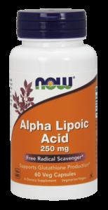 Альфа-липоевая кислота, Now Foods, 250 мг.