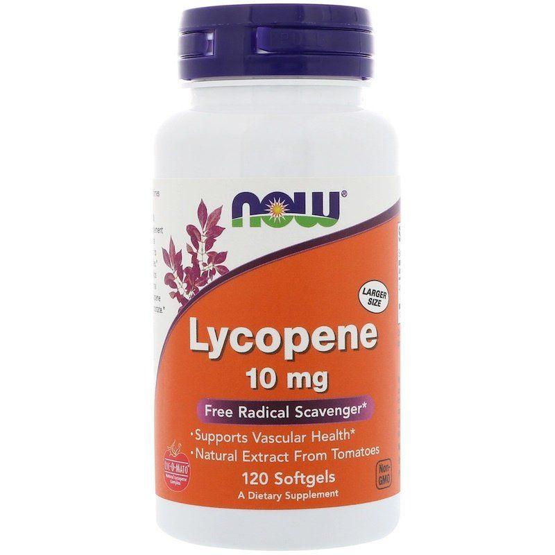 Ликопин (Lycopene), Now Foods, 10 мг, 120 гелевых капсул