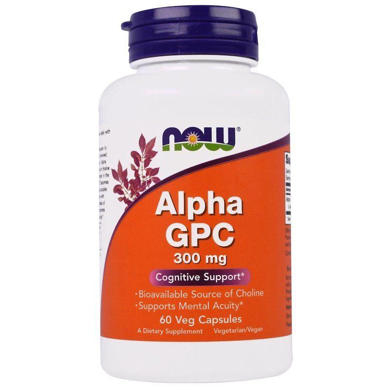 Альфа (Глицерофосфохолин) Alpha GPC, Now Foods, 300 мг, 60 капсул