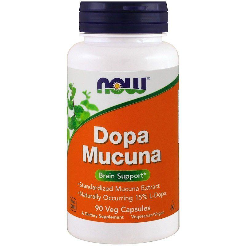 Мукуна жгучая (Капикачху), Dopa Mucuna, Now Foods, 90 капсул
