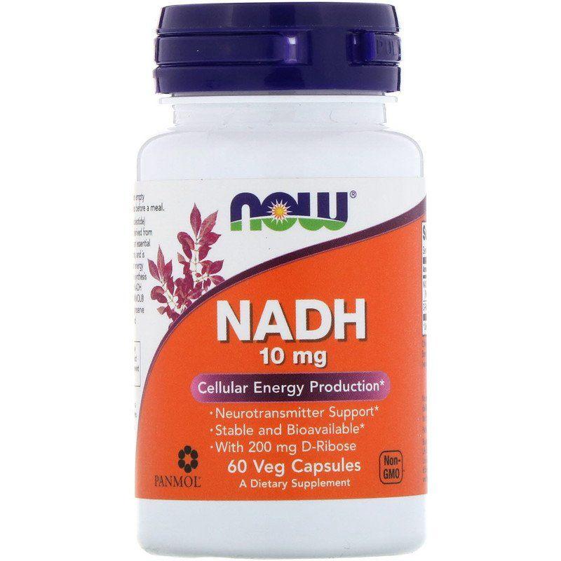 Никотинамидадениндинуклеотид, NADH, Now Foods, 10 мг, 60 капсул