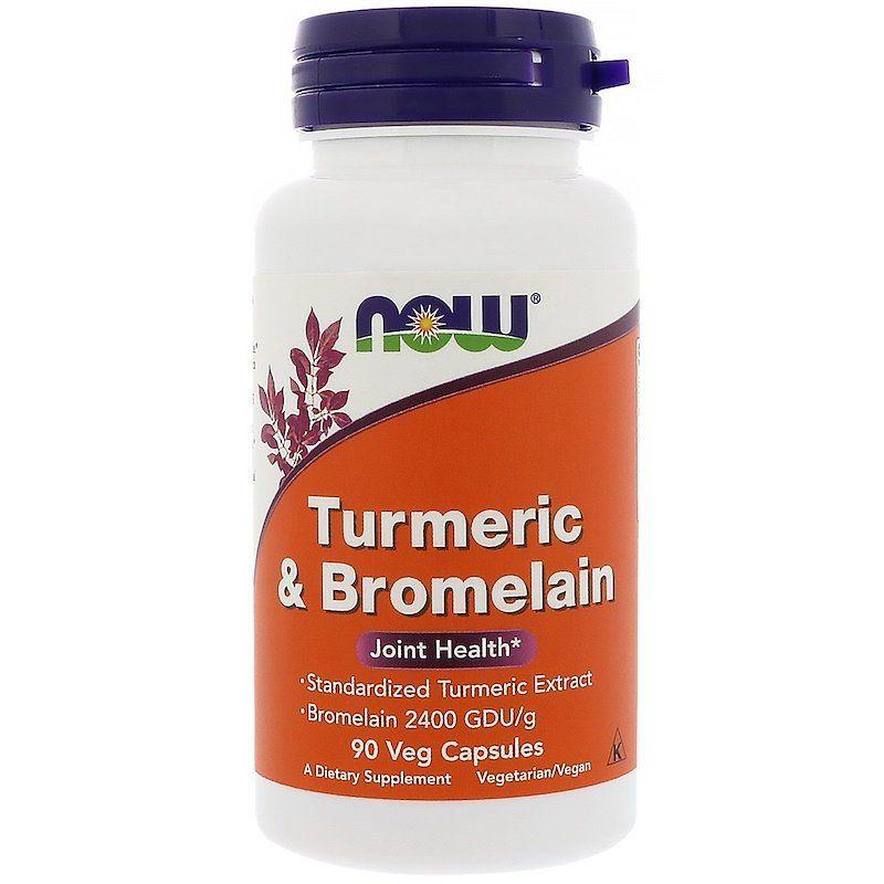 Куркума и бромелайн, Turmeric & Bromelain, Now Foods, 90 капсул