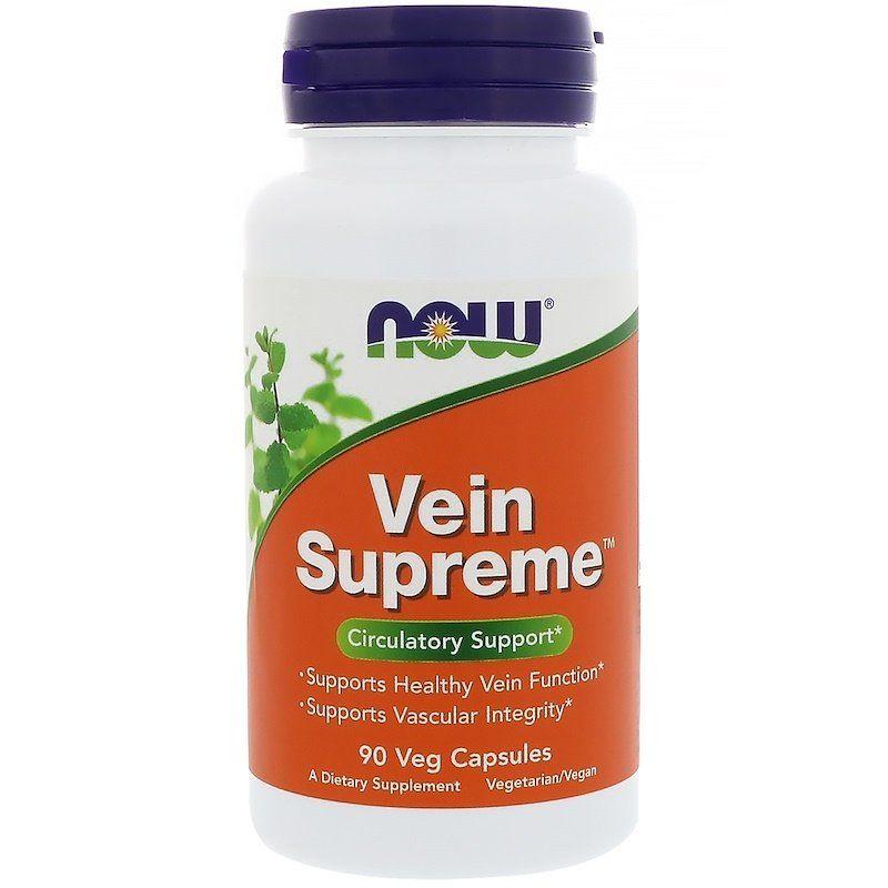 Поддержка для вен, Vein Supreme, Now Foods, 90 капсул