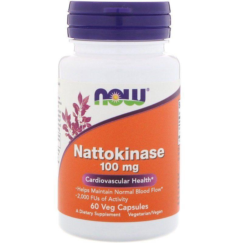 Наттокиназа, Now Foods, 100 мг, 60 капсул