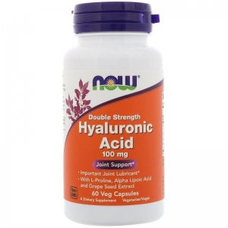 Гиалуроновая кислота, Hyaluronic Acid, Now Foods, 100 мг.