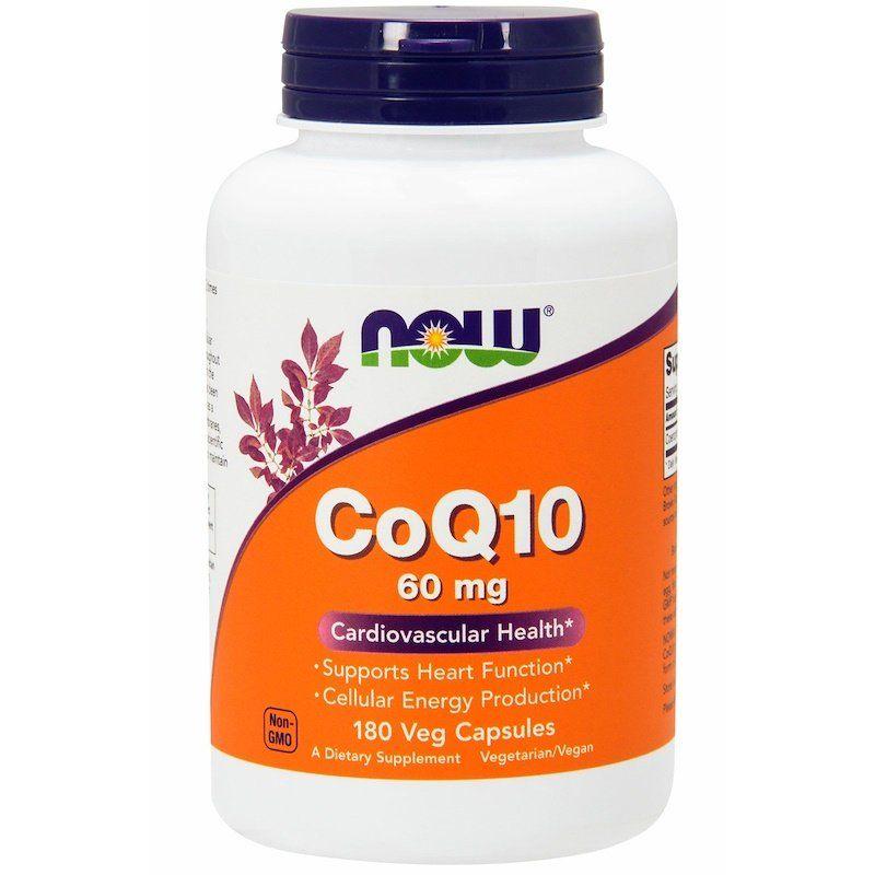 Коэнзим Q10 (CoQ10), Now Foods, 60 мг, 180 капсул