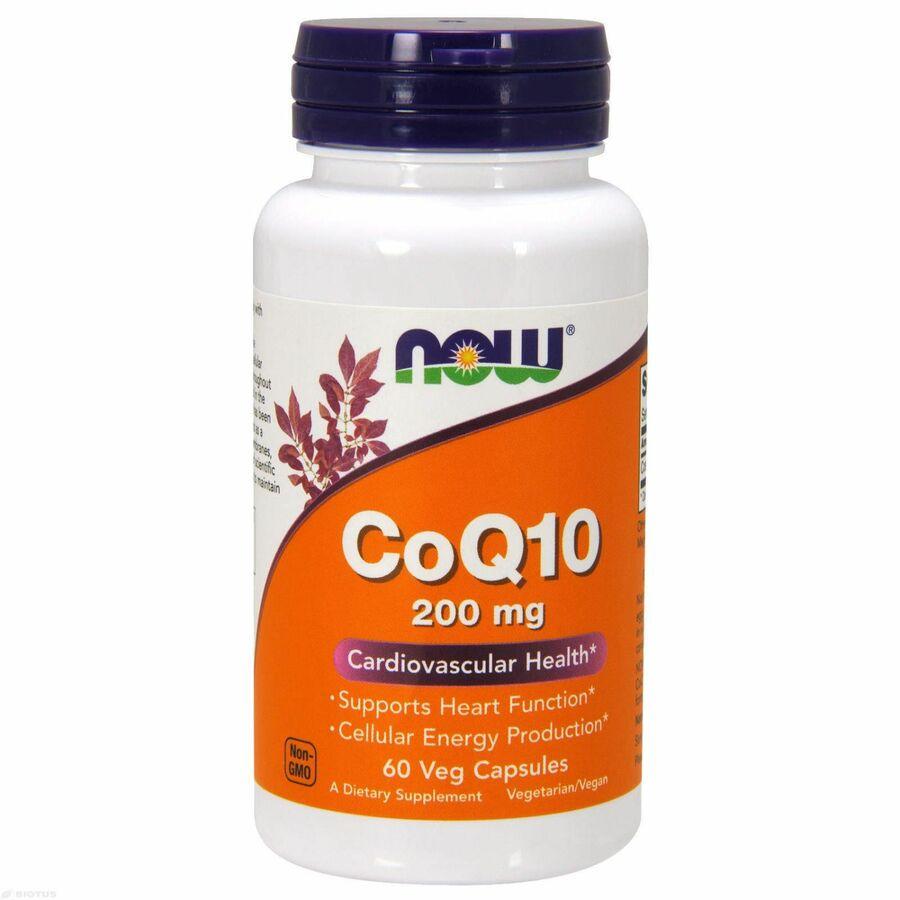 Коэнзим Q10 (CoQ10), Now Foods, 200 мг, 60 капсул