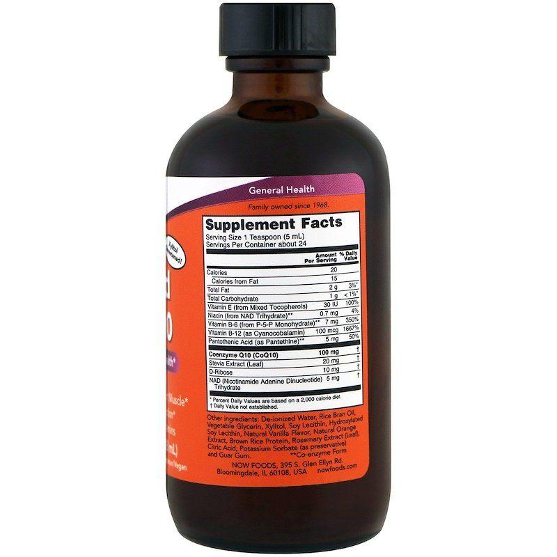 Коэнзим Q10 (Liquid CoQ10), Now Foods, жидкий, 118 мл
