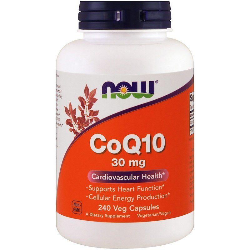 Коэнзим Q10 (CoQ10), Now Foods, 30 мг, 240 капсул