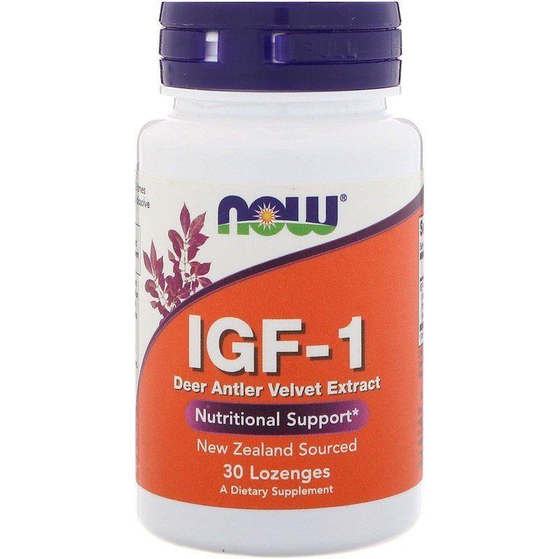 Инсулиноподобный фактор ИФР-1, IGF-1, Now Foods, 30 леденцов
