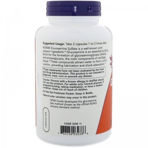 Глюкозамин сульфат, Glucosamine Sulfate, Now Foods, 750 мг, 240 кап.