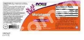 Мелатонин 3 мг., Now Foods, леденцы