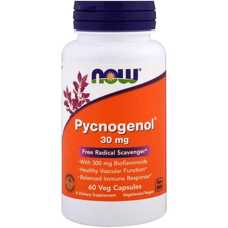 Пикногенол, Pycnogenol, Now Foods, 30 мг