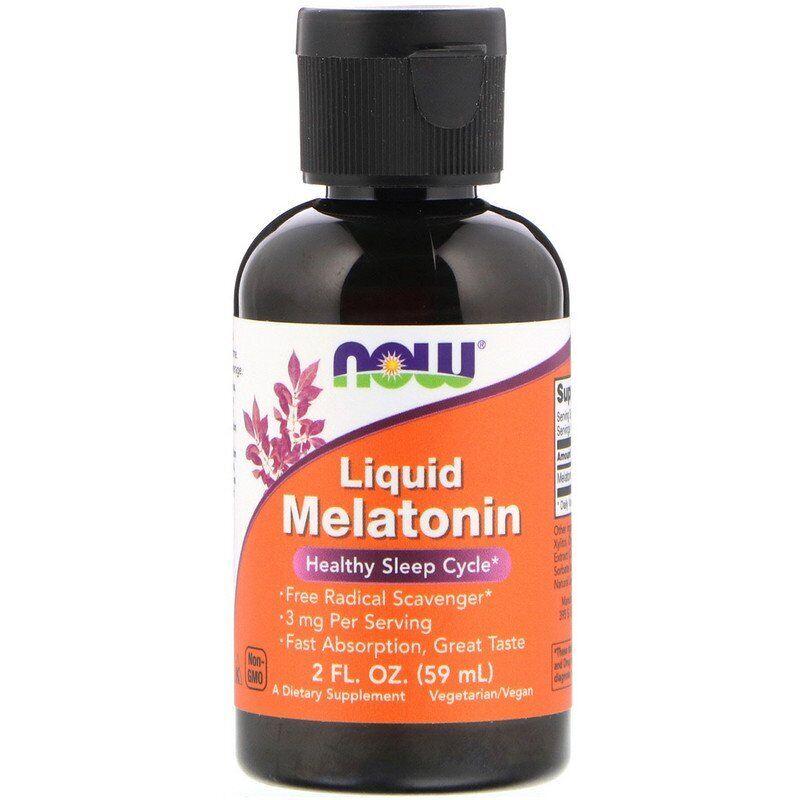 Мелатонин, Melatonin, Now Foods, жидкий, 60 мл.