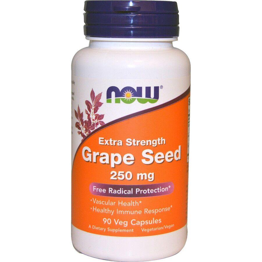 Экстракт виноградных косточек (Grape Seed), Now Foods, 250 мг, 90 кап.
