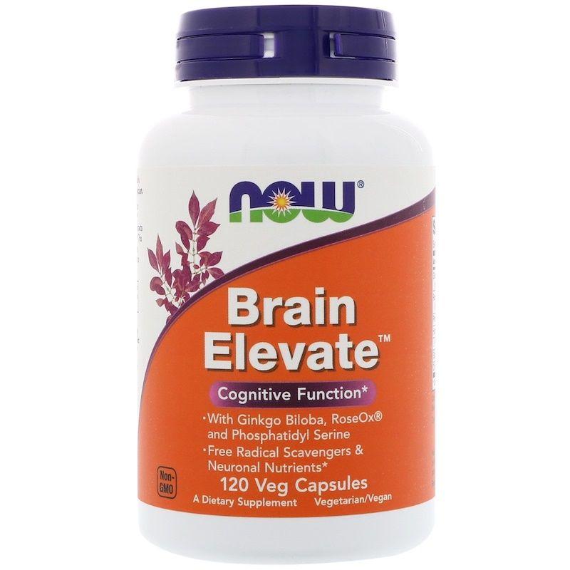 Витамины для памяти, Brain Elevate, Now Foods, 120 капсул