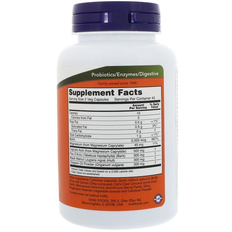 Противокандидное средство, Candida Support, Now Foods