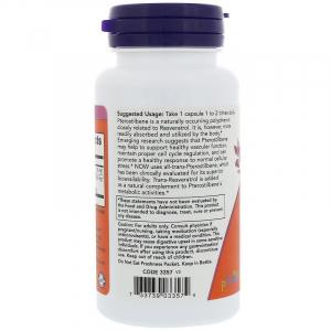 Ресвератрол   птеростильбен, Pterostilbene & Resveratrol, Now Foods, 50 250 мг, 60 кап.