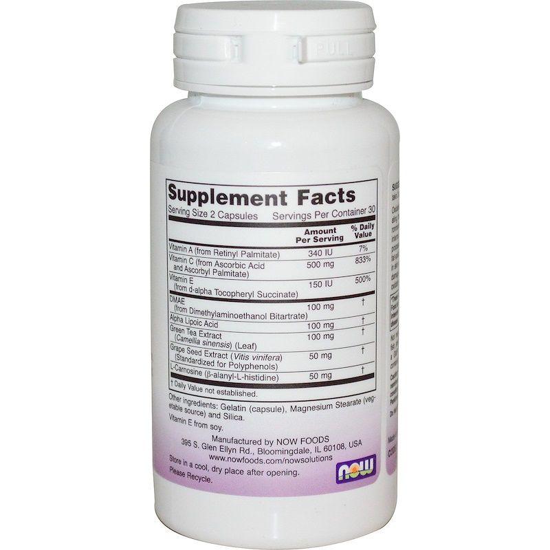 Антиоксиданты (против морщин), Wrinkle Rescue, Now Foods, Solutions, 60 капсул