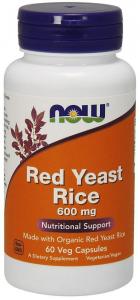Красный дрожжевой рис, Now Foods, 600 мг