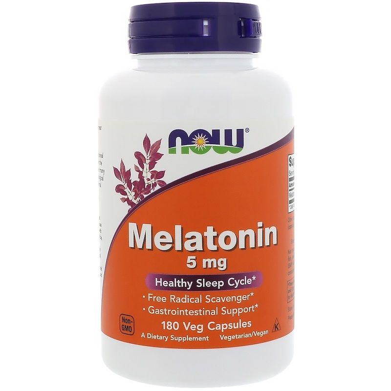 Мелатонин 5 мг, Now Foods, вег.капсулы
