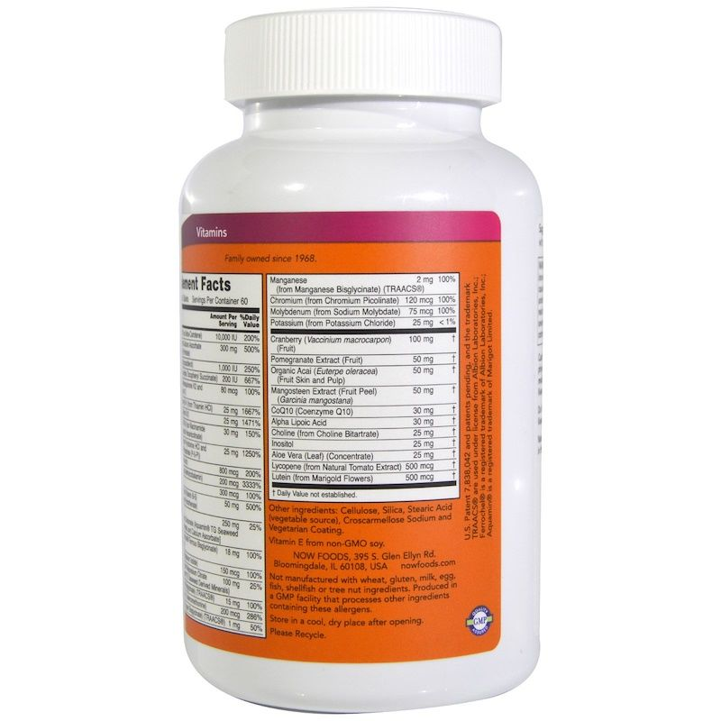 Витамины для женщин Ева, Eve, Women's Multi, Now Foods в таблетках