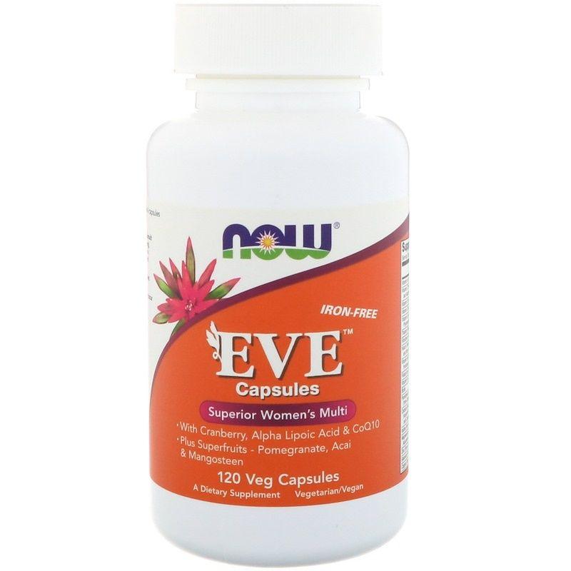 Витамины для женщин Ева, Eve, Women's Multi, Now Foods в капсулах