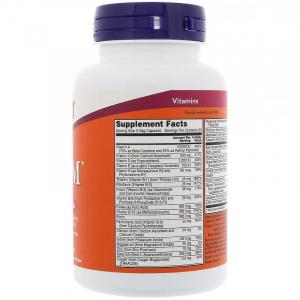 Витамины для мужчин Адам, Adam Men's Multi, Now Foods, 90 веган капсул