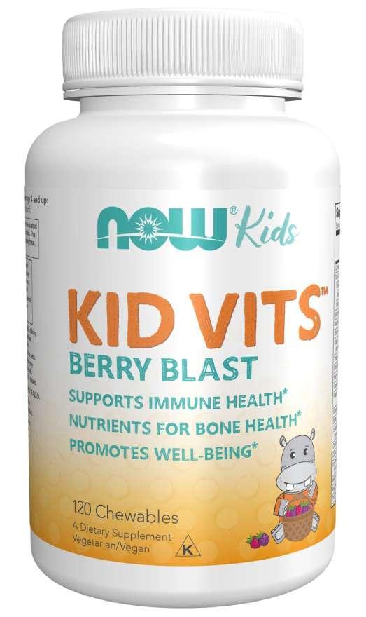Витамины для детей, Kid Vits, Now Foods, 120 таблеток