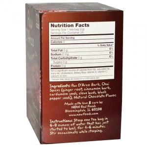 По д'арко, Pau D'Arco, Now Foods, 24 чайных пакетика (48г.)