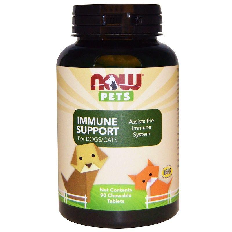 Поддержка иммунитета у кошек и собак, For Dogs-Cats, Now Foods, 90 таб.