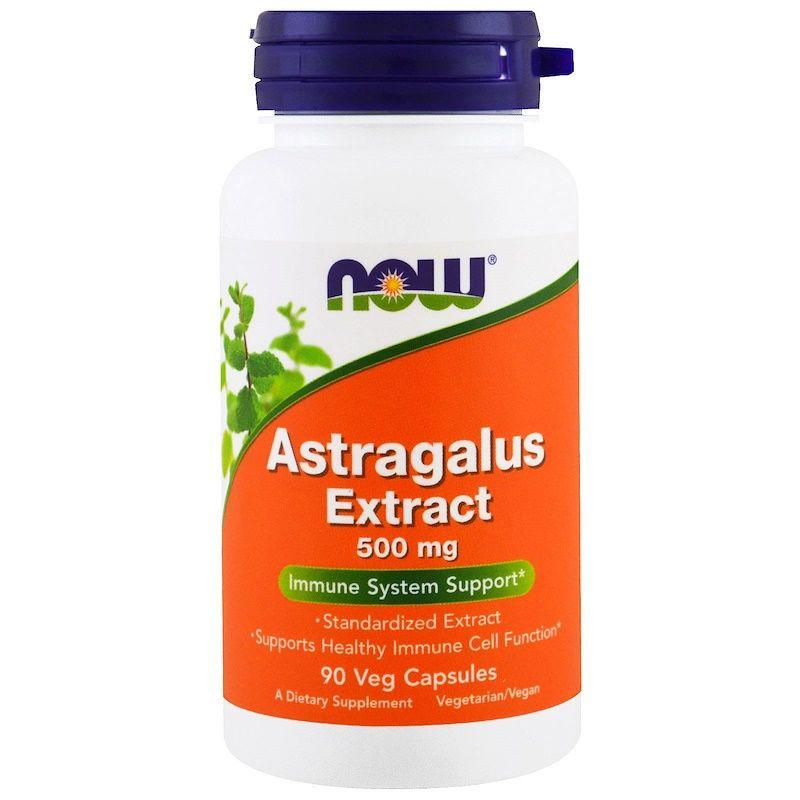 Экстракт Астрагала, Astragalus, Now Foods, 500 мг, 90 капсул