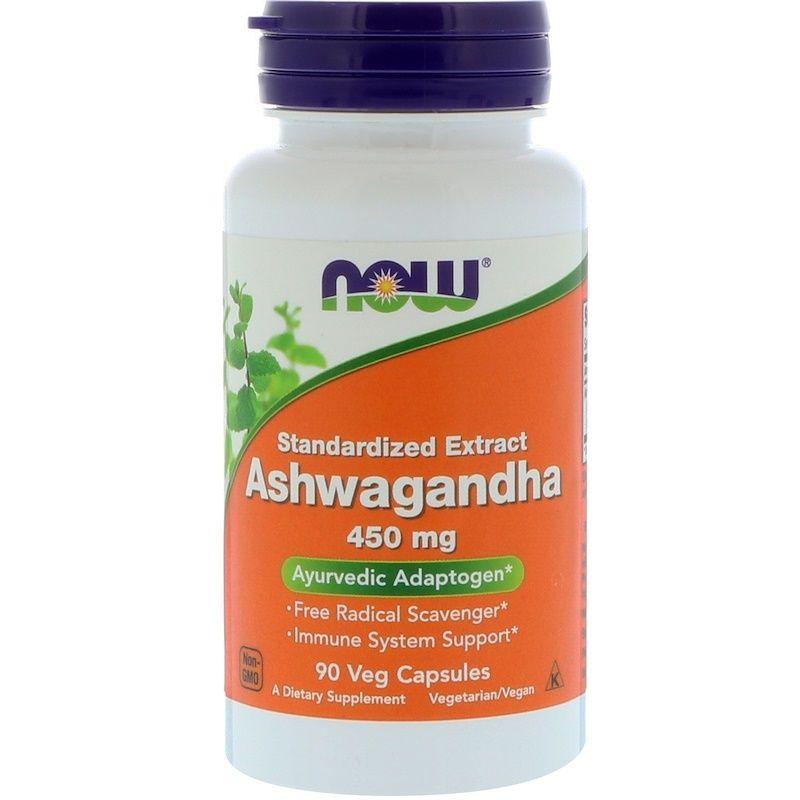 Ашваганда, Ashwagandha, Now Foods, 450 мг, 90 капсул