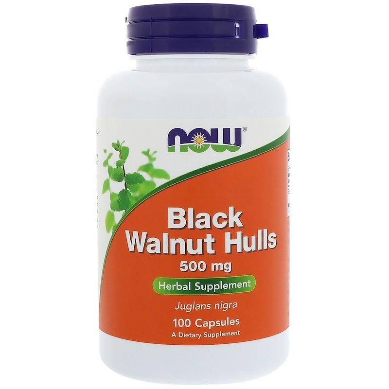 Черный орех (Black Walnut), Now Foods, 500 мг, 100 капсул