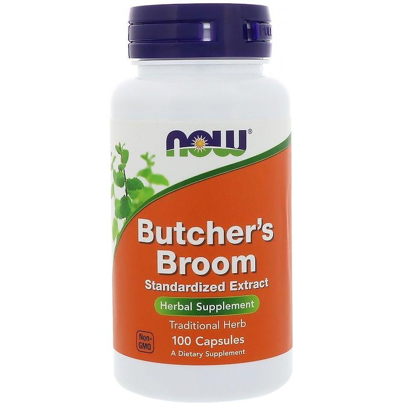 Иглица колючая, Butcher's Broom, Now Foods, 100 капсул