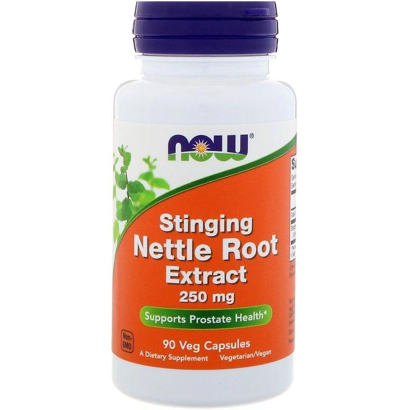 Корень крапивы, Nettle Root, Now Foods, экстракт, 250 мг, 90 капсул