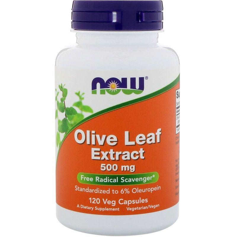 Листья оливы, экстракт, Olive Leaf, Now Foods, 500 мг.