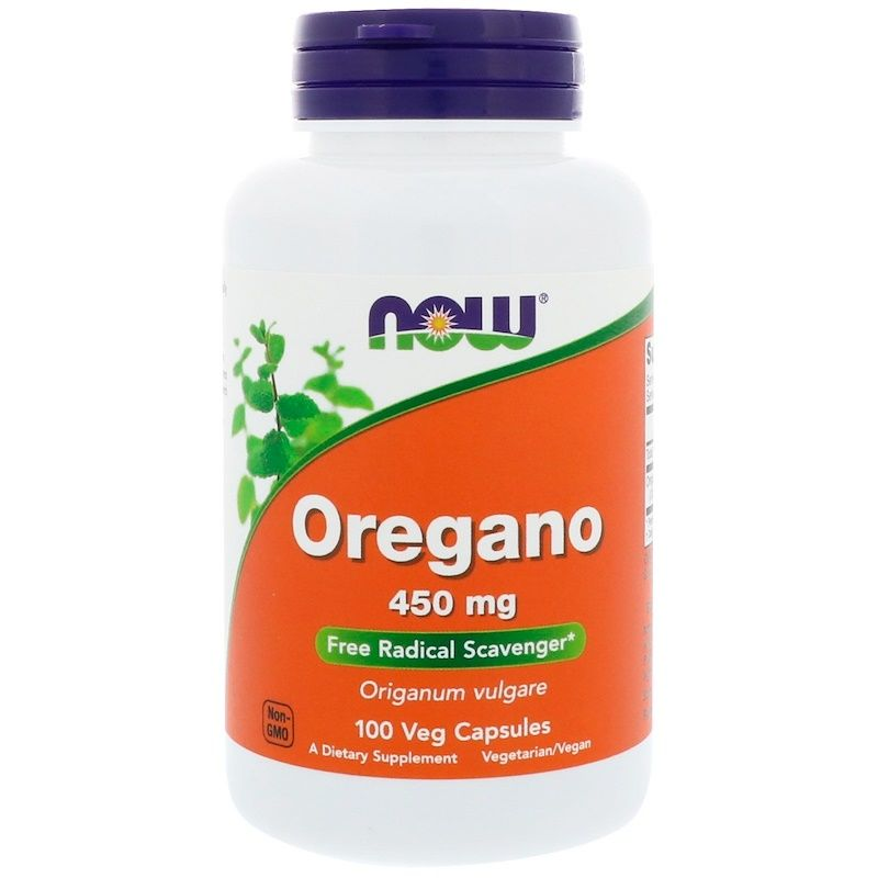 Орегано, Oregano, Now Foods, 450 мг, 100 капсул