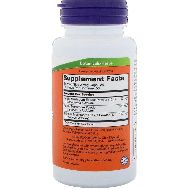 Грибы рей-ши, Now Foods, 270 мг, 100 кап.