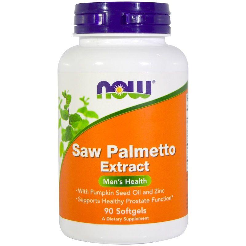 Со Пальметто, Saw Palmetto, Now Foods, мужское здоровье, экстракт, 90 капсул