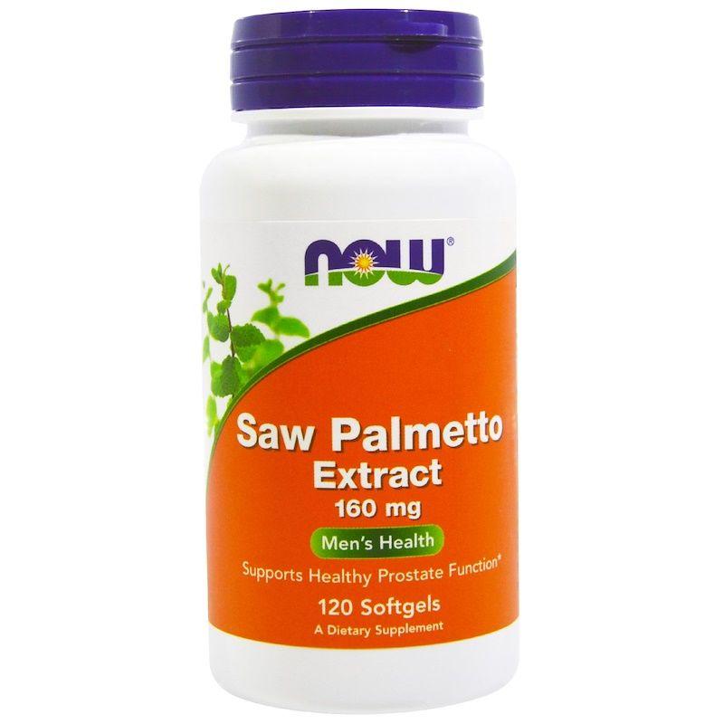 Со Пальметто, (Saw Palmetto), Now Foods, экстракт, 160 мг, 120 капсул