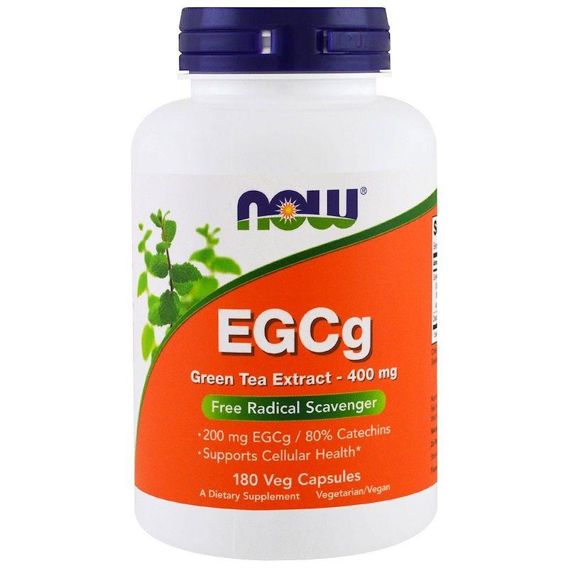 Зеленый чай EGCg (Green Tea), Now Foods, экстракт, 400 мг, 180 капсул