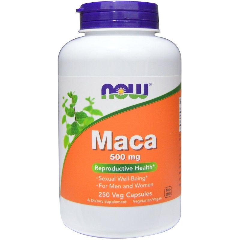 Мака (Maca), Now Foods, 500 мг, 250 капсул