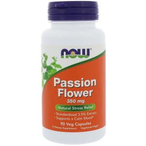 Страстоцвет (экстракт цветов), Passion Flower, Now Foods, 350 мг, 90 кап.