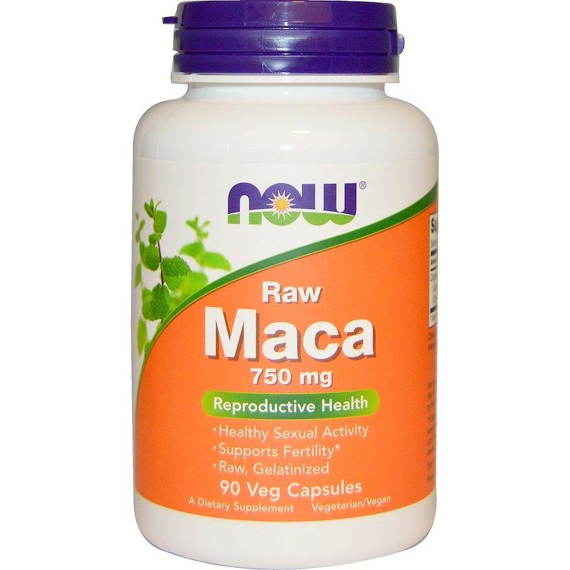 Мака, Raw Maca, Now Foods, 750 мг