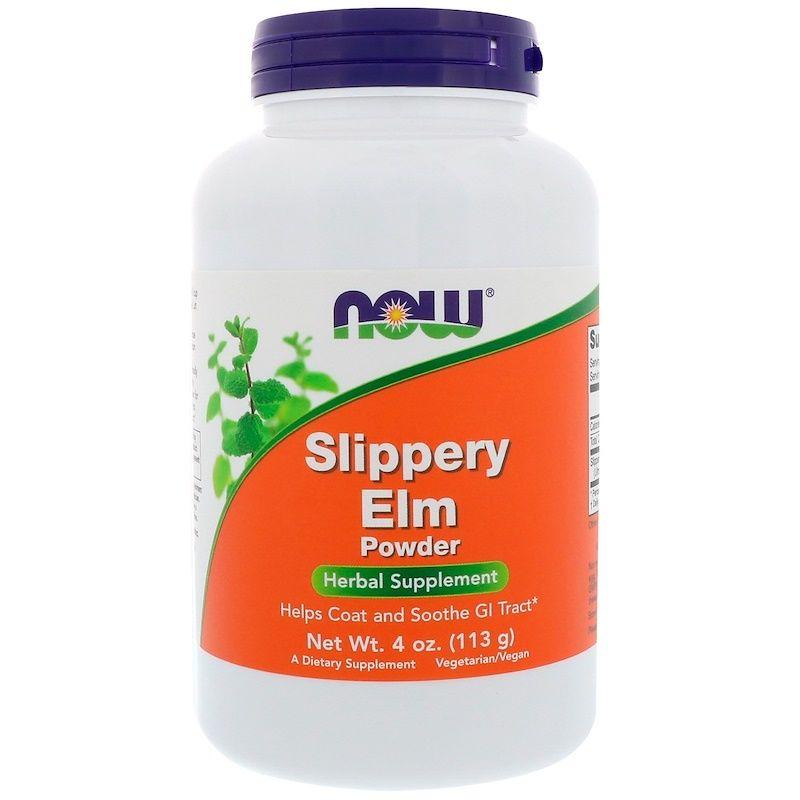 Скользкий вяз (Slippery Elm), Now Foods, порошок, 113 г.