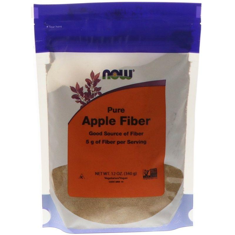 Яблочный пектин, Apple Fiber, Now Foods, 340 г